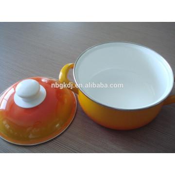 enamel straitpot with bakelite knob  enamel straitpot with bakelite knob