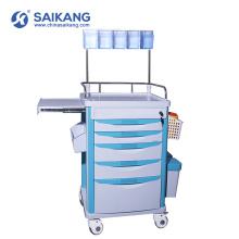 Chariot médical de drogues d'ambulance d'urgence d'hôpital de SKR-AT121 simple ABS