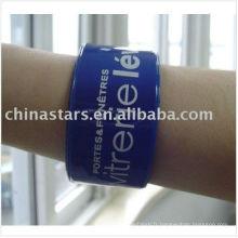 Bracelet réfléchissant en couleurs assorties et logo personnalisé