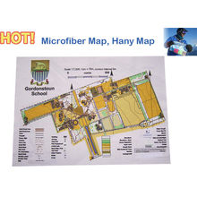 Cusotmized Weatherproof And Sharp High Resolution Print Microfiber Map / Handy Microfiber Maps