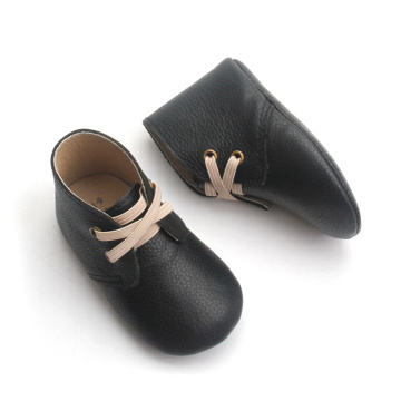 Baby Boots Black Kids Zapatos de bebé Boy Girl
