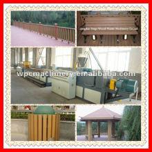 WPC decking, piso, painel de parede, perfis de cerca linha de produção linha de produção WPC