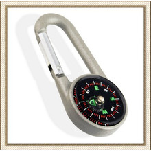 Aluminum or Zinc Alloy Camping Hiking Carabiner Compass (CL2E-KC27)