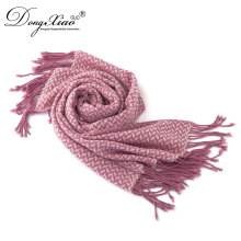 Ladies New Design Fashion Top Scarf Woven Wool Shawl Scarf For Russian
