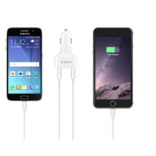 ORICO 48W 4 Port USB Car Charger for Your Phone Tablet and More - White (UCH-4U)