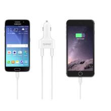Carregador de carro USB de 4 portas ORICO 48W para seu telefone Tablet and More - Branco (UCH-4U)