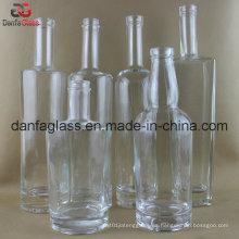 Extra Flint botellas de vidrio Bourbon (decoración de etiquetas múltiples Doable)