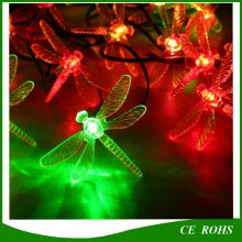 20 LED Outdoor Solar String Lights Dragonfly Forme pour les arbres de Noël Garden Party