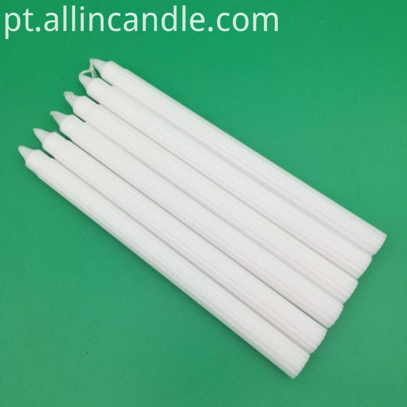 fluted white candle for south africa