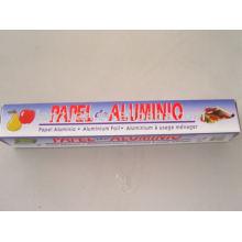 papel de aluminio para envasado de alimentos