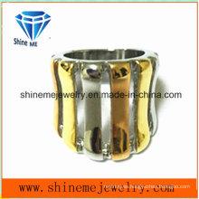 De alta calidad de galvanoplastia de acero inoxidable joyas anillo (SCR2965)