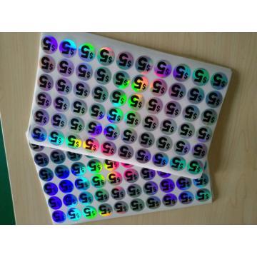 Etiqueta engomada redonda adhesiva del holograma del número del corte del laser