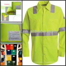 Tissu HV jaune modacrylique pour vêtements de protection