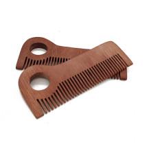 La plus haute qualité Amazon peigne à barbe en bois logo personnalisé barbe moustache