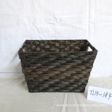 Rectangular Plastic Rattan Magazine Basket