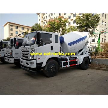 4ton 4x2 Beton Transit Mixer Vehicles