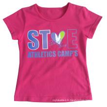 Belle fille T-Shirt vêtements en vêtements pour enfants enfants vêtements avec impression Sgt-082