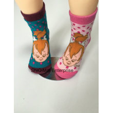 China Factory Customized Children Kids Baby Polyester Cartoon Design Happy Socks