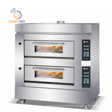 Commercial Restaurant Stainless Steel Double Layer Electric Bread Baking Oven Machine Bakery Cake Pizza Ovens Electric