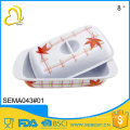 top selling hotel melamine dinnerware square cover plastic butter dish