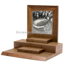 Advertising Equipment Counter Top Veneering Bamboo Wood Jewelry Retail Store Display Furniture