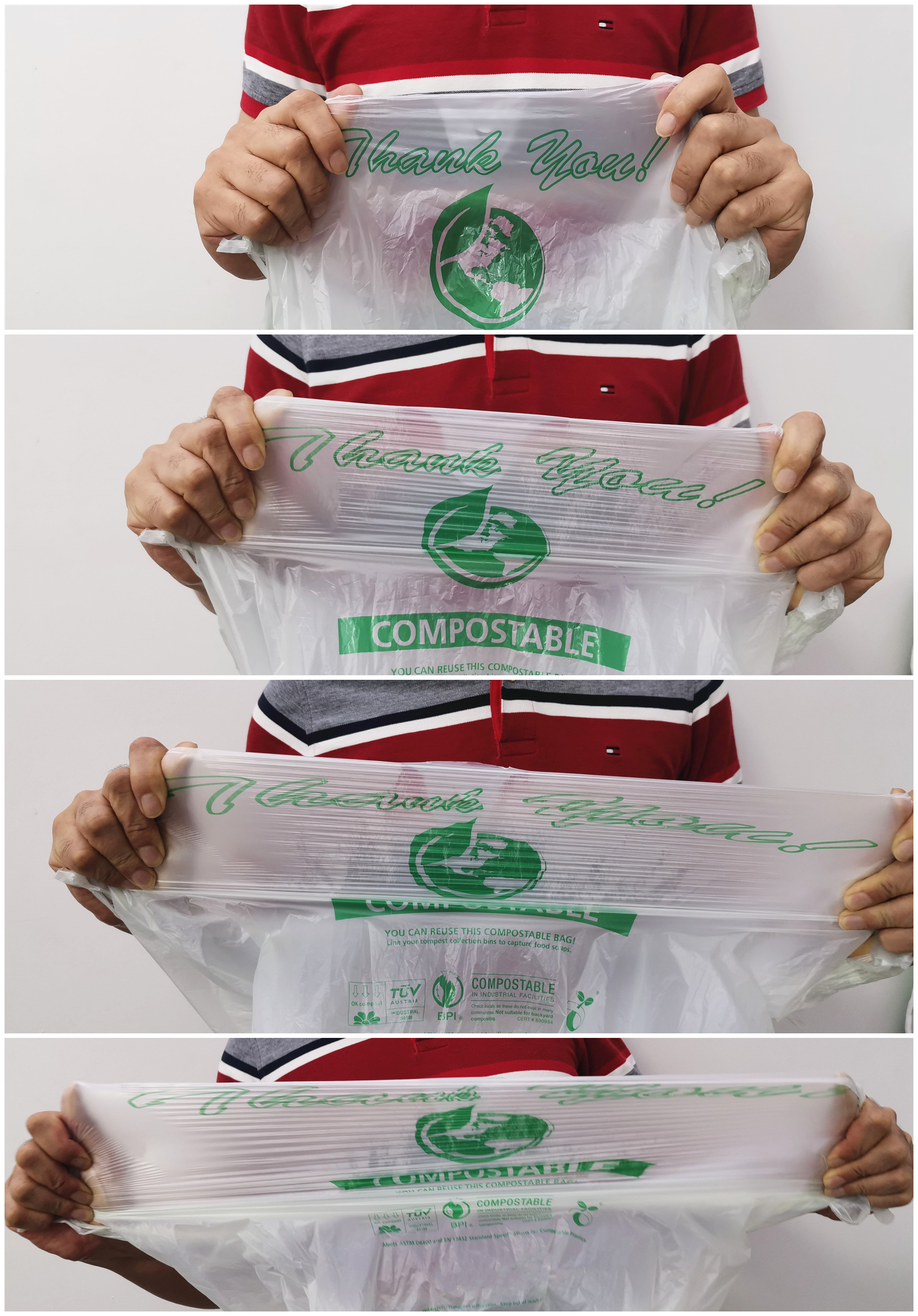 PLA Disposable Shopping Bags with logo