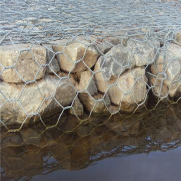 hot dip galvanized hexagonal wire mesh weaving Gabion box
