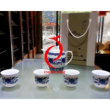 Vario conjunto de té chino de porcelana de alto grado