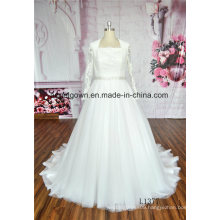 Long Sleeve Prom Lace Wedding Dress