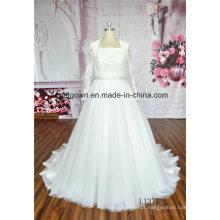 Vestido de Noiva de Manga Comprida com Renda