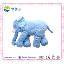 New Arrival Plush Elefante Azul Grande Almofada