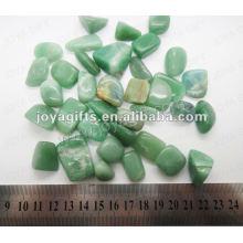 Grüner Aventurin-Trommelstein, hochglanzpoliert