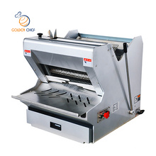 12mm Golden Chef commercial heavy duty stainless steel bread slicer 35 pcs electric bread slicer machine price toast bread slice