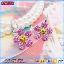 Boucle d'oreille de bijoux de mode de Guangzhou Boosin, boucle d'oreille de forme de fleur