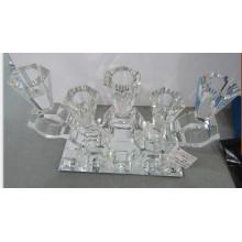 Хрустальный подсвечник с зеркальной основой для домашнего украшения