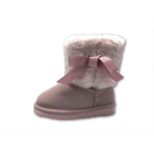 Good Quality for Toddler Sheepskin Boots Pink Winter Suede Girl Kids Boots export to Chile Exporter
