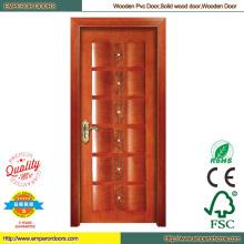 Armario de puertas plegables de PVC puertas Puerta de madera de teca