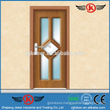 JK-P9221 factory sale glass laminated pvc kitchen cabinet doors