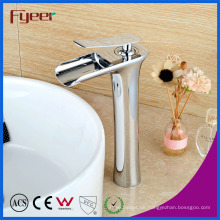 Fyeer New High Body Einhand Messing Wasserfall Becken Wasserhahn