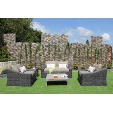 Neue elegante Kollektion Synthetische Rattan Sofa Set Für Outdoor Garten oder Wohnzimmer Alu Frame Wicker Fiber
