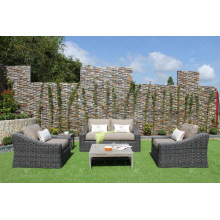 New Elegant Collection Synthetic Rattan Sofa Set For Outdoor Garden or Living Room Alu Frame Wicker Fibre