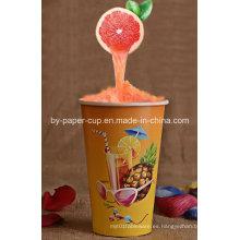 Copa de papel de bebidas frías populares