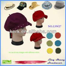 LSW27 Ningbo Lingshang invierno de moda al por mayor de punto de lana sombrero de invierno
