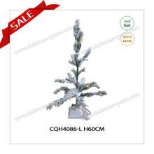 Decoração de Natal a atacado barata Árvore de Natal verde e nevado