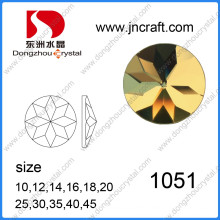 Faceted Round Flat Back Glass Mirror Decorative Stones for Shoes