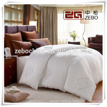 High Quality Hilton Hotel 400GSM Microfibra de relleno de edredón de seda blanca