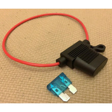 in-Line Car Standard Blade Fuse Holder Waterproof 18AWG Upto 15A for Car/Boat
