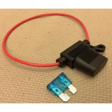 in-Line Car Standard Blade Fuse Holder 18AWG impermeável até 15A para carro / barco