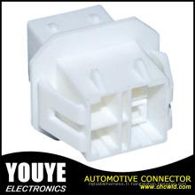 Fil de puissance de polyester de logement de rabattement de mâle blanc de 4 bornes pour câbler le connecteur
