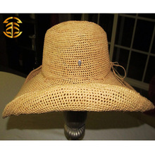 2015 New Fashion Casual Summer Sunscreen Natural Raffia Straw Hat